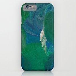 green blue ocean with a silver lining iPhone Case