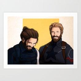 Bearded Duo Art Print