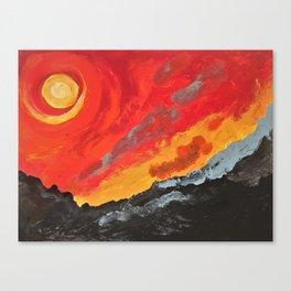 The eternal firey Sun Canvas Print