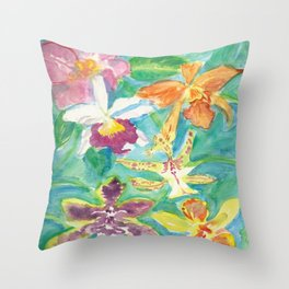 Orchid Project #4 Throw Pillow