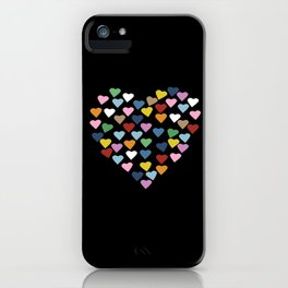 Hearts Heart Black iPhone Case