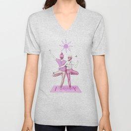 Yogi Love pink colours Unisex V-Neck