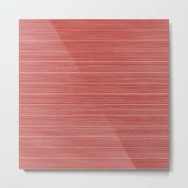 Pastel Red Whitewashed Beach House Cladding Metal Print