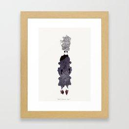 Bad Scare Day Framed Art Print