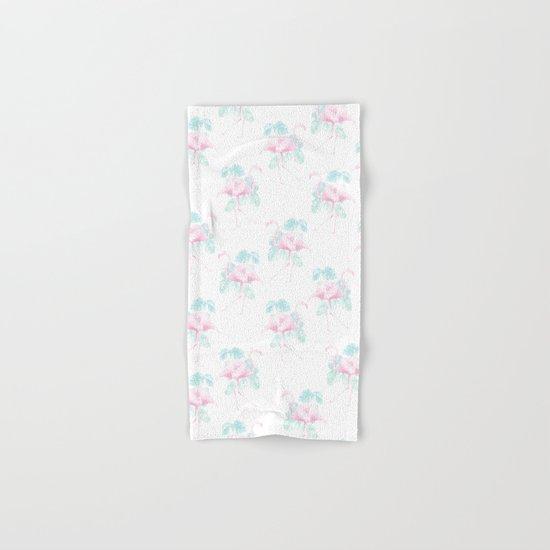 Tropical Flamingos Hand & Bath Towel