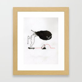 One-Footed Wallie Framed Art Print