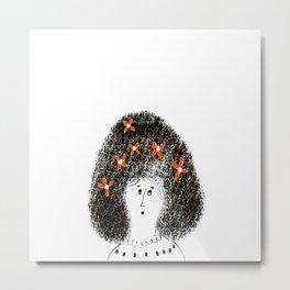 Bouffant Hair, Don't Care Metal Print