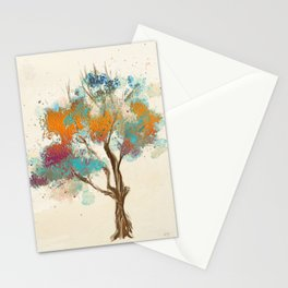 Colorful Tree Stationery Cards