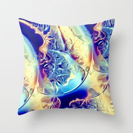 Etched Glass Abstract Throw Pillow
