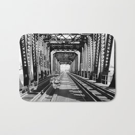 Train Bridge Bath Mat