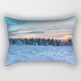 Frozen Landscape Rectangular Pillow