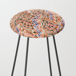 red topography Counter Stool