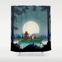 Bear and Fox Shower Curtain