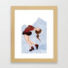 Dancing on Ice  Framed Art Print