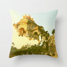 Barcelona Cubism Dreams Throw Pillow