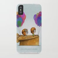cartoons iPhone & iPod Cases featuring UP Pixar— Love is the greatest adventure  by Ciara Ni Dhuinn