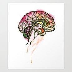 Brain. Art Print