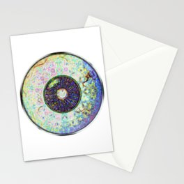 Eyball Jewel In light Green Veins Stationery Cards