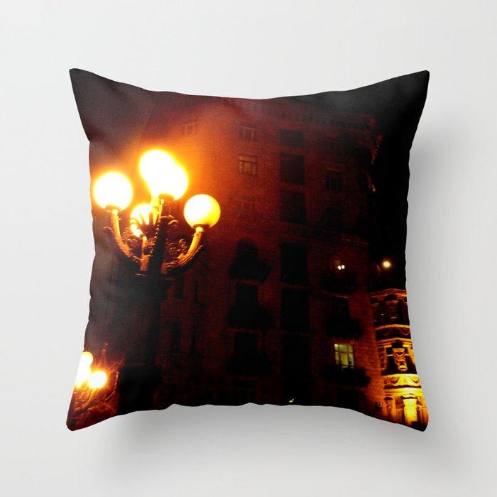Night Crest 3 Throw Pillow