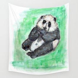 Scruffy panda Wall Tapestry