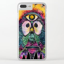In Cosmic Unison Clear iPhone Case