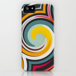 Retro Style colors and pattern iPhone Case
