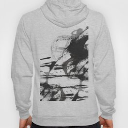 Black and white Abstract Hoody