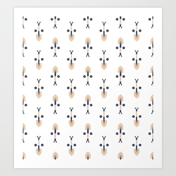 Find the Face: Construction Tools (Patterns Please Series) Art Print