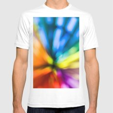 color explosion White MEDIUM Mens Fitted Tee