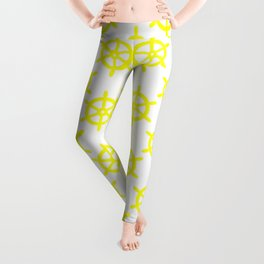 Ship Wheel (Yellow & White Pattern) Leggings