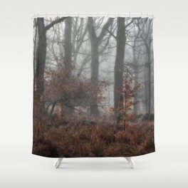 Misty Winter Woodland Shower Curtain