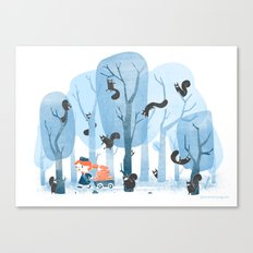 Squinjas! Canvas Print