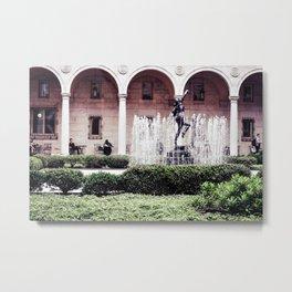 The Courtyard Metal Print
