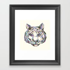 Crystal Tiger Framed Art Print