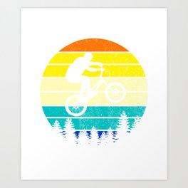 retro mountain bike for mountain biker Art Print