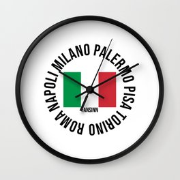 Italy Pisa Turin Rome Milan Naples gift Wall Clock