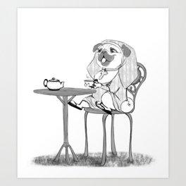 Nun pug Art Print