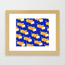 Toast Cat Framed Art Print