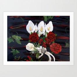Lillies ad Roses Art Print