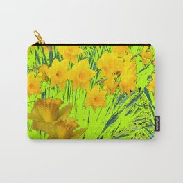 YELLOW SPRING DAFFODILS GARDEN Carry-All Pouch