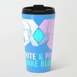 WHITE & PINK MAKE BLUE Metal Travel Mug