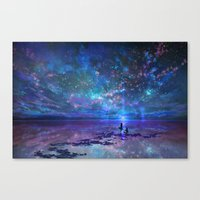 discount Canvas Prints featuring Ocean, Stars, Sky, and You by Melissa Hui Wang (muddymelly)