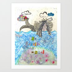 The Mermaid Of Zennor Art Print