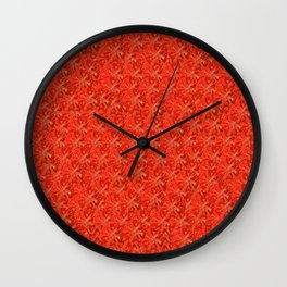 Tomato Pattern Wall Clock
