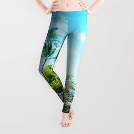Mokapu Beach Pacific Ocean Tropical Beauty Maui Hawaii Leggings