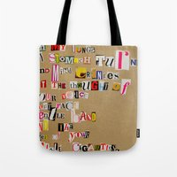 cigarettes Tote Bags featuring Stale Cigarettes by Maison Fioravante - Fine Artist