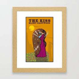 Klimt Eastwood - The Kiss Framed Art Print