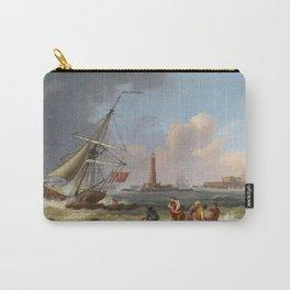 Jakob Philipp Hackert - Der Hafen von Livorno mit der Rettung Schiffbrüchiger Carry-All Pouch