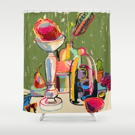 STILL LIFE WITH DRAGON FRUIT Shower Curtain