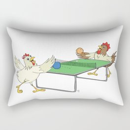 Chickens Playing Ping Pong Rectangular Pillow